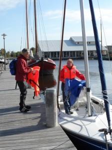 Segeln Herren 40 2012 Vorberieitung der Boote