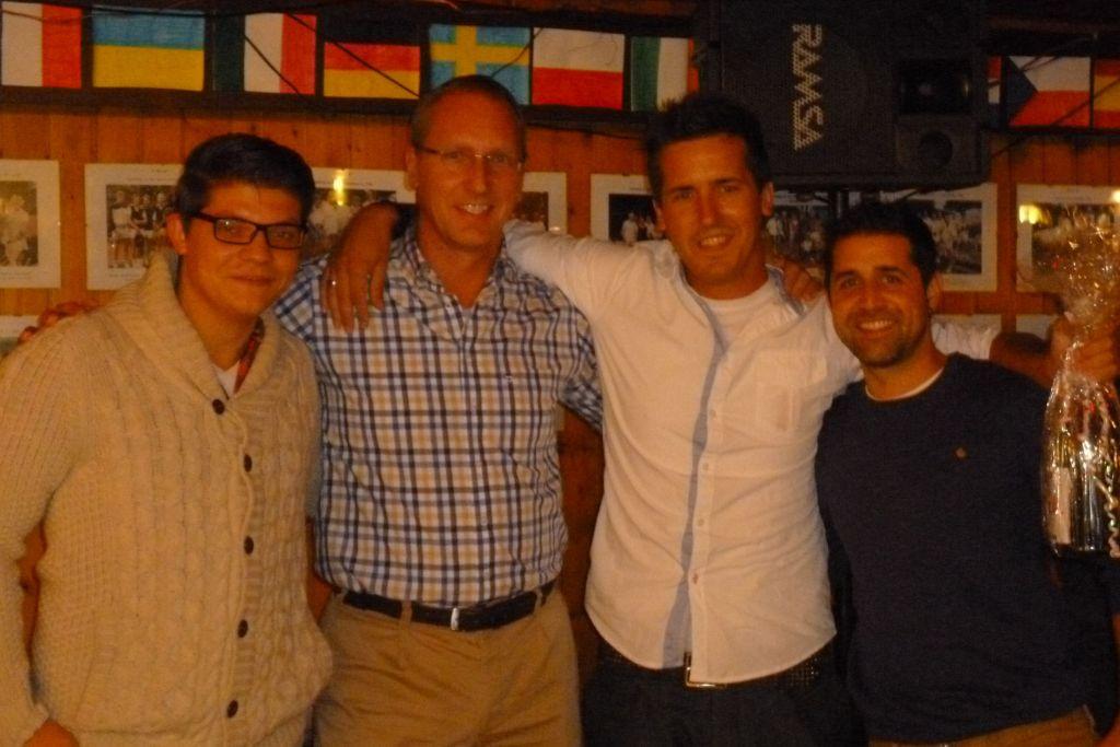 Ehrung der Aufsteiger 2013 - Herren I : v.li.: Lars Petereit, 1.Vorsitzender Michael Amft, René Herzog, Javier Gerne