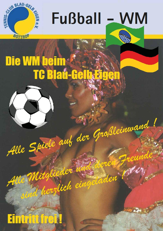 Plakat Fußball-WM 2014  Public Viewing