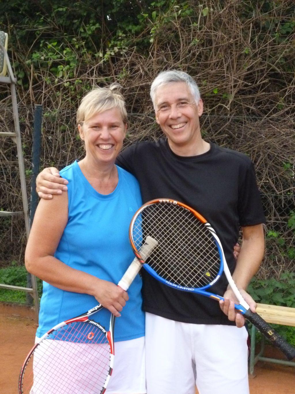 Stadtmeister Gemischtes Doppel 50: Ulrike und Martin Evers