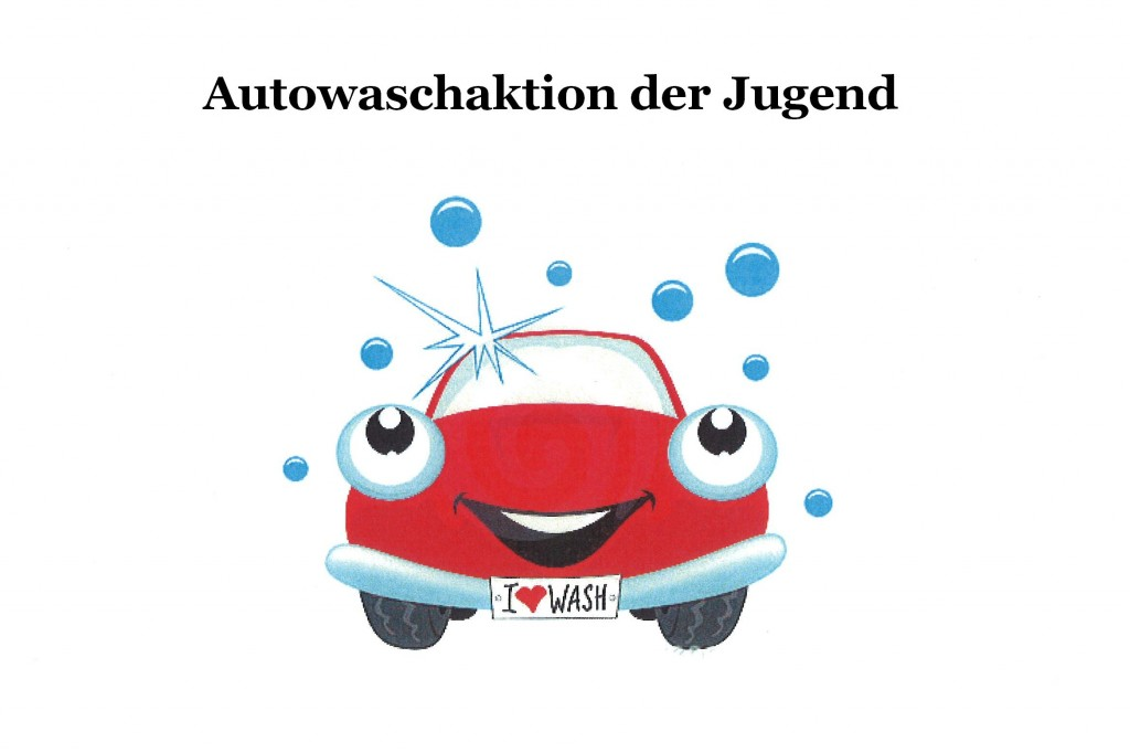 Clipart Autowaschaktion Jugend