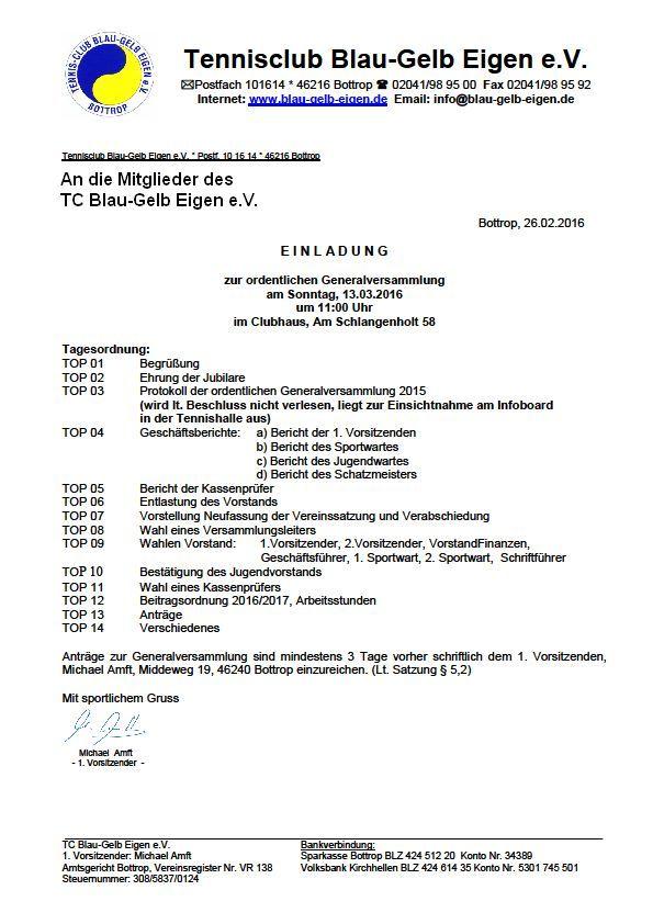 Einladung Generalversammlung 2 2016